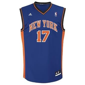 NBA Men's New York Knicks Jeremy Lin #17 Replica Jersey (Royal, Large)