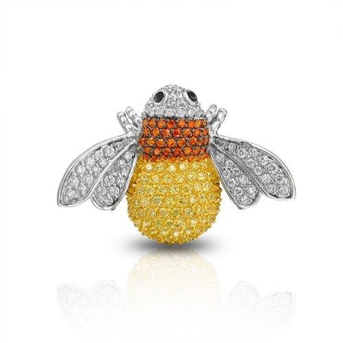 Bling Jewelry Yellow Citrine Orange Sapphire