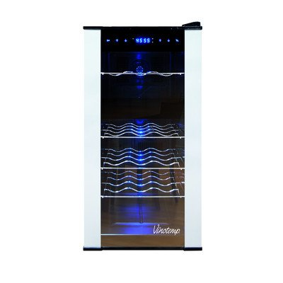 Vinotemp Cocktail Storing Accessories 18 Bottle Dual-Zone Thermoelectric Wine Cooler