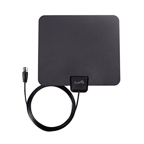 Lowest Price! DuaFire Amplified HDTV Antenna, Super Thin Digital Indoor HDTV Antenna - 25 Miles Rang...