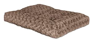 "Midwest Quiet Time Pet Bed Deluxe Tan Ombre Swirl 35"" x 23"""