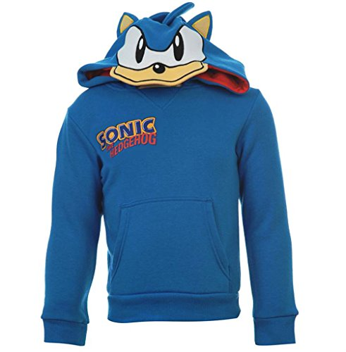 Childrens Sonic il riccio con cappuccio a maniche lunghe Bambine Blue 3-4 Anni