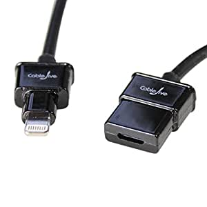 CableJive dockXtender L 180 cm Lightning 延長ケーブル 黒 18436