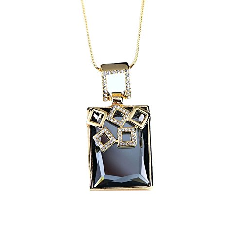 NL-12017C1 Alloy Fashion Geometric Inlaid Crystal Women's Necklace