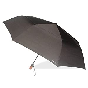 London Fog Windguard Oversize Auto Open-Close Umbrella, Black