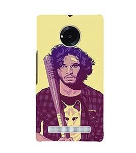 EPICCASE Jon snow Mobile Back Case Cover For YU Yuphoria (Designer Case)