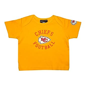 NFL Kansas City Chiefs Infant Baby Comfortable Fit Short Sleeve T-Shirt / Tee 3-6 Yellow