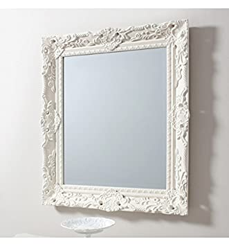FERRONI SHABBY CHIC CREAM WALL MIRROR