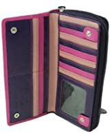 Visconti RB 55 Multi Colored Ladies Soft Leather Checkbook Wallet And Purse