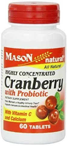buy Mason Vitamins Cranberry With Probiotic And Added Vitamin C And Calcium Tablets, 60 Count By Mason Vitamins
