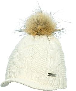 eisglut bonnet de ski femme blanc sports et. Black Bedroom Furniture Sets. Home Design Ideas