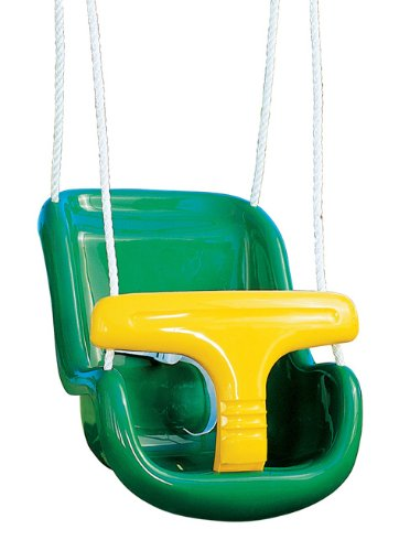 Playtime Swing Sets Playtime Swing Sets Molded Infant Swing With Rope - / Yellow, Green front-591379