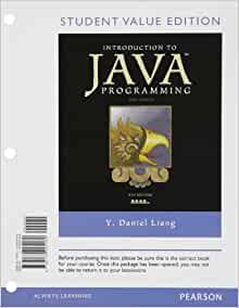 introduction to java programming daniel liang pdf