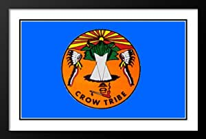 Amazon.com: Native American Bandera Crow Tribe Flag 25x29 Framed and