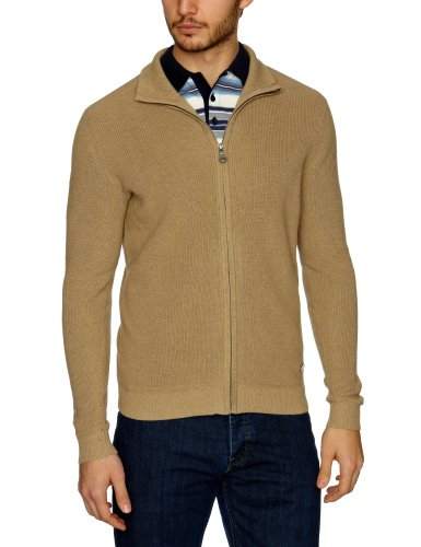 Henri Lloyd Chine Regular Full Zip Knit Men's Jumper Beach marl Large
