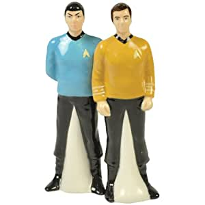 Westland Giftware Star Trek Magnetic Spock and Captain Kirk Salt and Pepper Shaker Set, 4-1/2-Inch