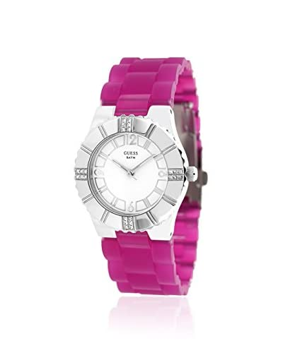 Guess Women's W95087L1 Sport Pink/White Rubber Watch