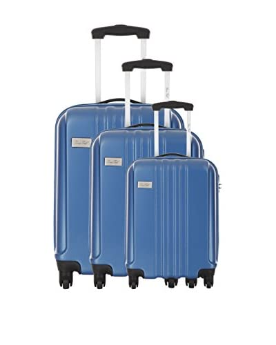 BRUCE FIELD Set de 3 trolleys rígidos Agnan Azul
