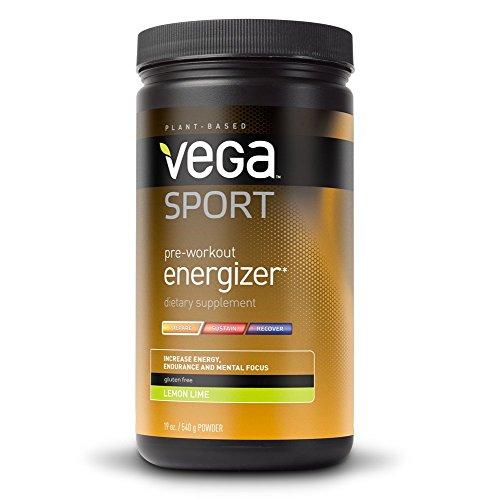 Vega Sport Pre-Workout Energizer, Lemon Lime, 19 oz., Tub (Pre Workout Energy compare prices)