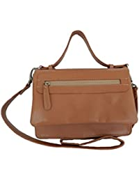 Leather Art Naomi Goat Nappa Light Brown Ladies Handbag