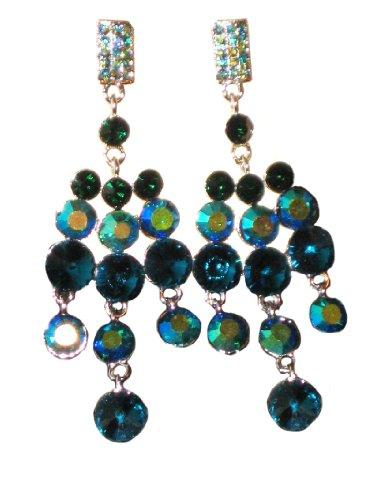 ICE (6222-2)-Lampadario pendente con Orecchini pendenti, colore: blu