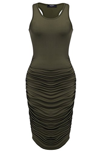 Zeagoo-Womens-Summer-Sexy-Stretch-Ruched-Sundress-Fold-Bodycon-Midi-Tank-Dress