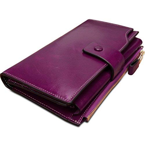 Yahoho Women's Large Capacity Luxury Wax Genuine