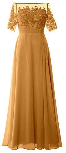 MACloth -  Vestito  - lungo - Donna giallo 60