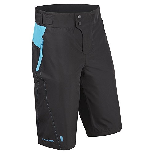 Tenn Mens Protean MTB/Downhill Cycling Shorts - Black/Cyan - Sml