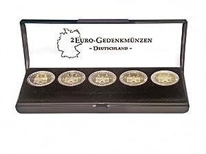 Ecrin monnaies pour une série 2 Euro commémoratives Allemagne [Lindner S2090], Format, 150 x 47 x 22 mm