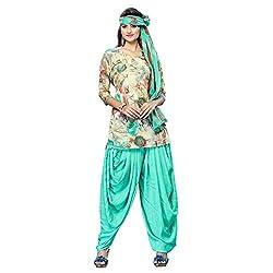 Triveni Women's Crape Salwar Kameez Dress Material (TSHCSSK6753A_Beige)