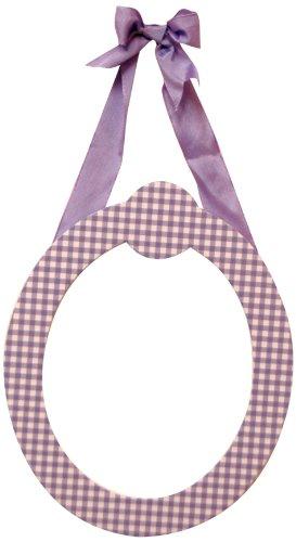 """My Baby Sam 9"""" Lavender Gingham Hanging Letter, O - 1"""