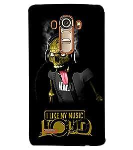 PrintVisa Quotes & Messages Music Skull 3D Hard Polycarbonate Designer Back Case Cover for LG G4