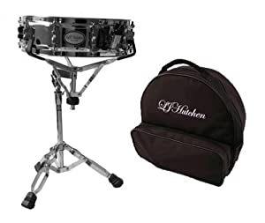 LJ Hutchen Snare Drum Kit with Carrying Case and Stand- 2 Year Warranty
