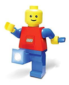 "LEGO Hand Crank Dynamo Flash Light Torch Giant Lego Man Stands 7.5"" Tall (Colors May Vary)"