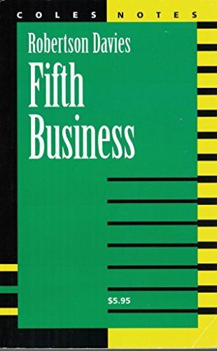 an analysis of the fifth business by robertson davies Chapter analysis of fifth business  robertson davies books note: the views expressed here are only those of the reviewer(s) 2 ways to search or.