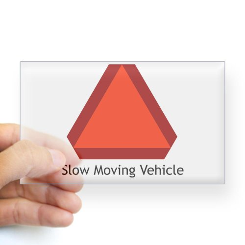CafePress Slow Moving Vehicle Sign - Rectangle Sticker Sticker Rectangle - 3x5