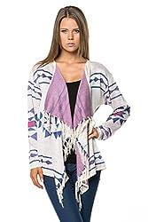 [The Classic Brand] Multi Abstract Pattern Long Sleeve Cardigan Medium