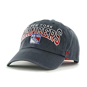 NHL New York Rangers Wingman Clean Up Snapback Adjustable Cap, One Size, Navy