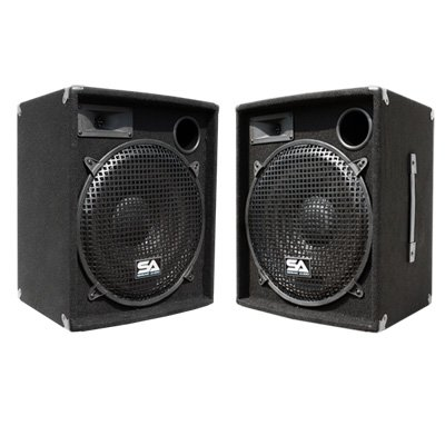 "Seismic Audio - Pair Of 15"" Pa Dj Speakers 600 Watts Pro Audio - Mains, Monitors, Bands, Karaoke, Churches, Weddings"