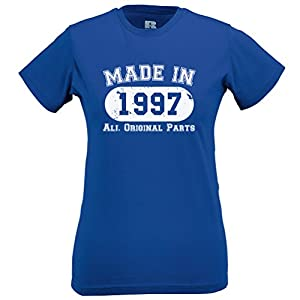 Made In 1997 Limited Edition Birthday 18th T Shirt Gift Nostalgic Retro Year Womens Slim Fit Xsmall - Xlarge Multiple Colours