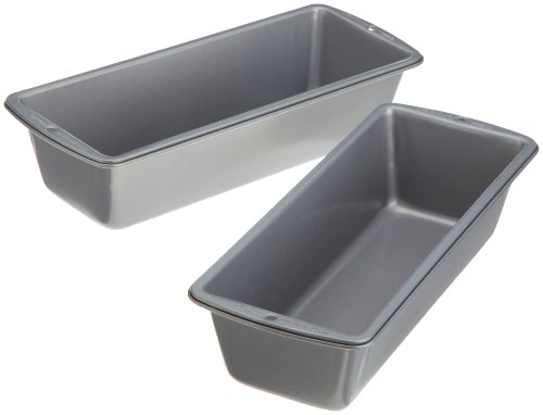 Wilton Recipe Right 2 Piece Long Loaf Pan Set (Large Bread Loaf Pan compare prices)
