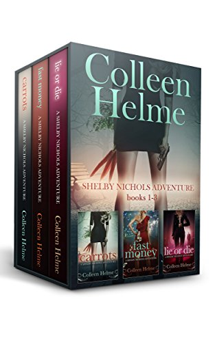 Settle in with this cozy mystery boxed set!  Shelby Nichols Adventure Box Set Books 1-3: Carrots, Fast Money, and Lie or Die by Colleen Helme