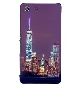 Printvisa Newyork Night View Back Case Cover for Sony Xperia M5 Dual E5633 E5643 E5663:: Sony Xperia M5 E5603 E5606 E5653