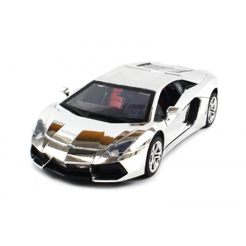Review Electric Full Function 1:18 Metal Diecast Lamborghini Aventador RTR RC Car with Opening Hood & Doors (Chrome Edition)  Review