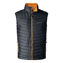 Eddie Bauer Men\'s IgniteLite Reversible Vest, Storm XL