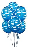Mid Blue with Clouds 118243 Matte Balloons 6 count
