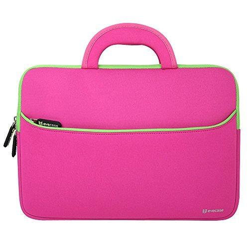 laptophulle-evecase-universal-14-zoll-neopren-laptop-schutzhulle-mit-vorderseitigem-zubehorfach-fur-