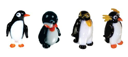 Looking Glass Miniature Collectible - Penguins (4-Pack)