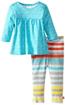 Zutano Baby-Girls Infant Knitwit Peasant Top and Legging Set, Multi, 6 Months